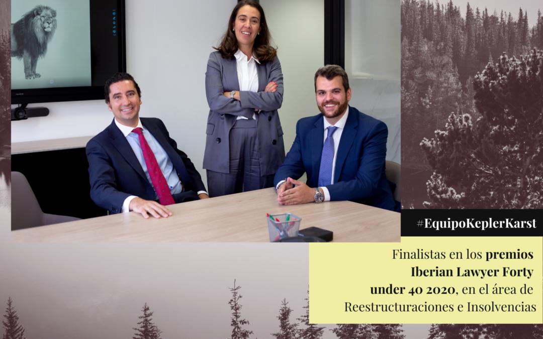 ¡Somos finalistas de los premios Iberian Lawyer Forty under 40!