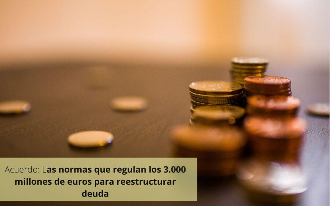 Se aprueban las normas que regulan los 3.000 millones de euros para reestructurar deuda
