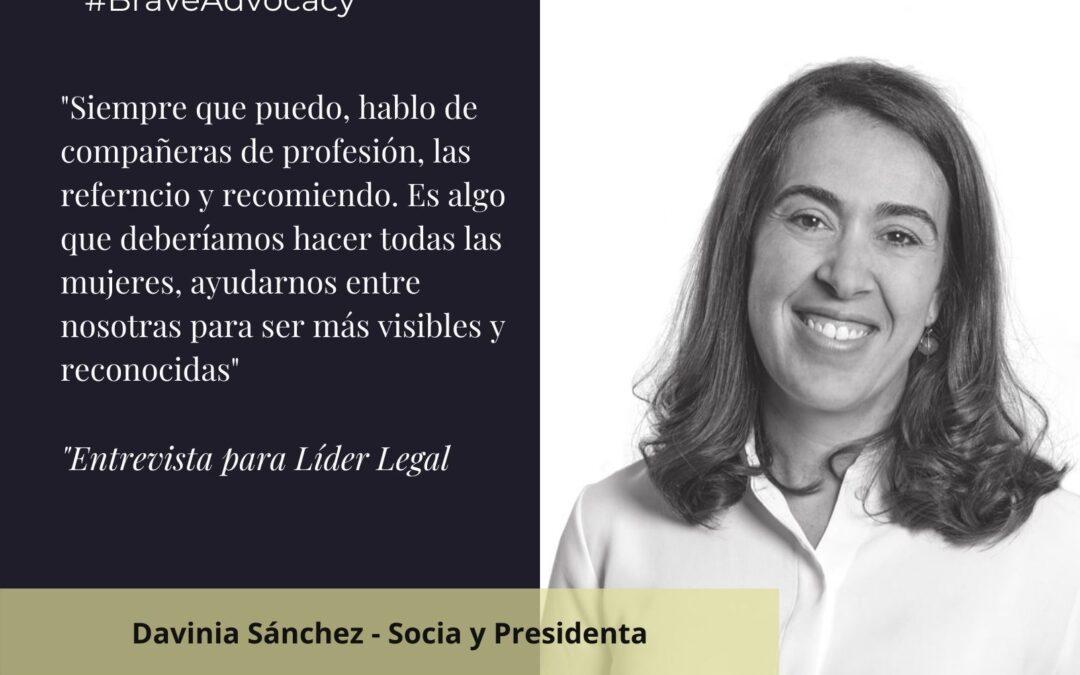 """Entrevista a Davinia Sánchez: """"Es fundamental que los equipos directivos combinen liderazgo femenino y masculino"""""""